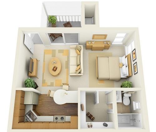 что такое квартира студия и как она выглядит на фото