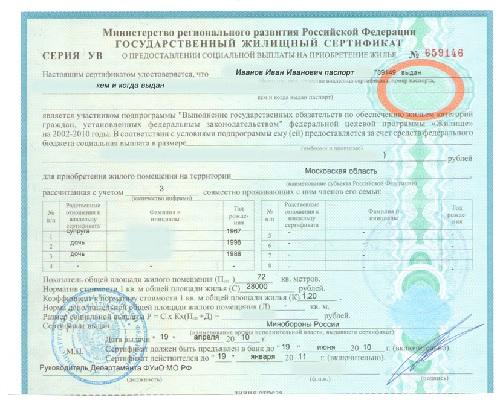 Что такое государственный жилищный сертификат?