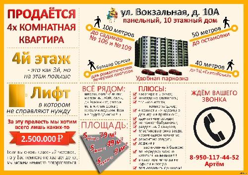 Как правильно написать рекламное объявление о продаже квартиры